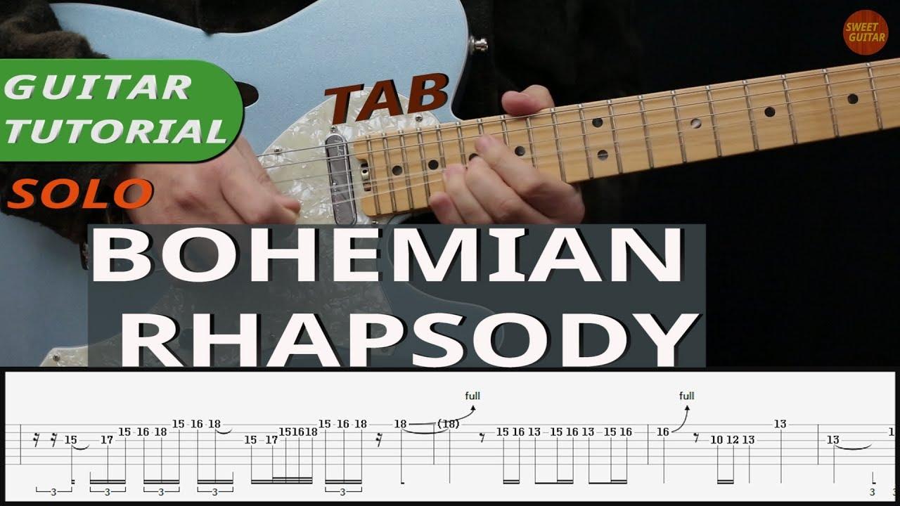 Bohemian Rhapsody Acoustic Guitar Tutorial TABS ChordsㅣCover Queen 보헤미안랩소디 기타 코드 타브악보레슨  온라인기타레슨