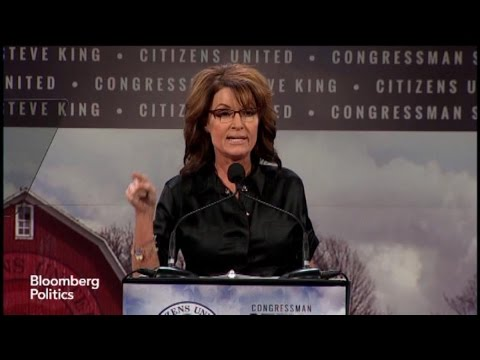 Palin - Jan. 24 -- Former Republican vice presidential candidate Sarah Palin discusses her views on Democrats as she addresses the Iowa Freedom Summit. (Source: Bloomberg)