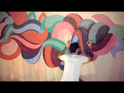 wall art - Koralie and Supakitch are both amazing artists!!! The work they do in this video is absolutely beautiful.