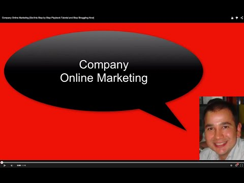 Company Online Marketing [Get this Step by Step Playbook Tutorial and Stop Struggling Now]