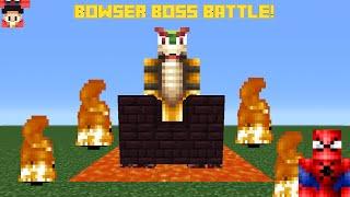 Minecraft Pc: Command Block Bowser Battle - One Command Block (Mini Boss)