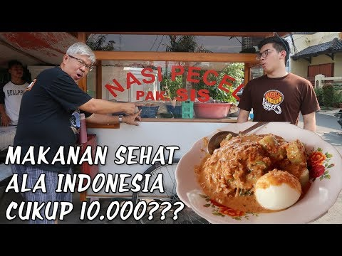 MAKAN SALAD LEGENDARIS CUMA 10.000??? || LTGN does food vlog (pake format Ken and Grat) lol