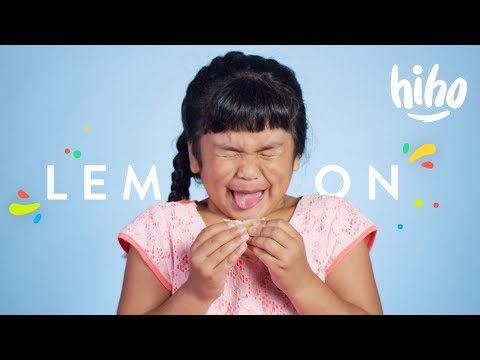 100 Kids React to Eating Lemon