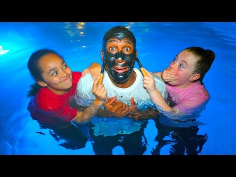 Face Mask Peel Off Challenge In Our Swimming Pool!!!