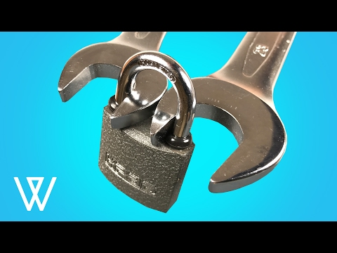 How to open a lock with a nut wrench - THE BEST WAY!