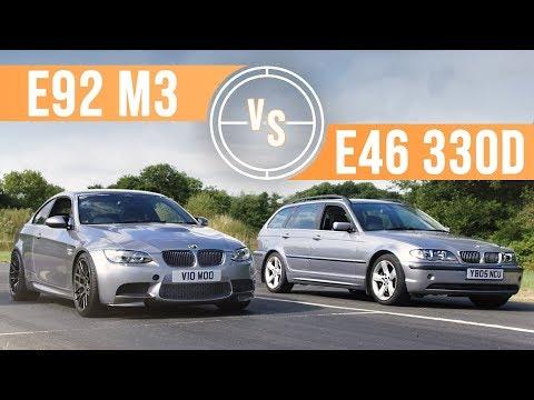 Can A BMW E46 330d Keep Up With An E92 M3 On Track?