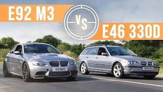 Can A BMW E46 330d Keep Up With An E92 M3 On Track? by Car Throttle