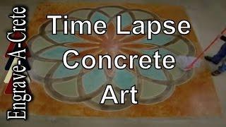 Decorative Concrete Art | Time Lapse