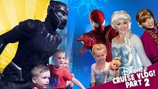 Video Marvel Superheroes and Princesses! Disney Cruise Kids Vlog Day 2! MP3, 3GP, MP4, WEBM, AVI, FLV Juni 2018