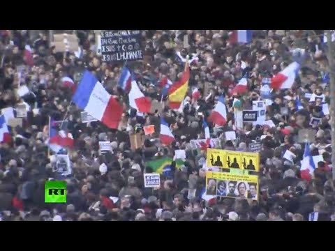 Paris - Charlie Hebdo supporters are gathering to march through Paris to pay tribute to the victims of the terror attacks that shook France and killed 17 people, inc...