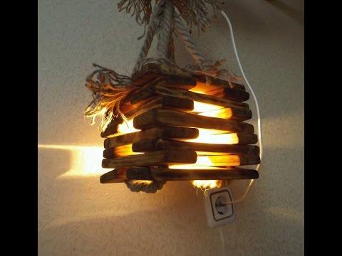Светильники из дерева своими руками видео