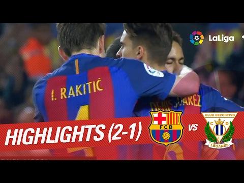 Video Resumen de FC Barcelona vs CD Leganés (2-1) download in MP3, 3GP, MP4, WEBM, AVI, FLV February 2017