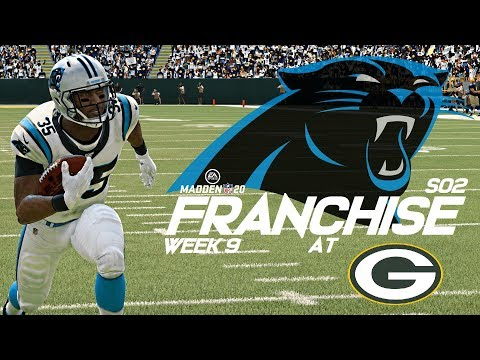 Madden 20 Carolina Panthers Franchise | Week 9 at Packers | Can We Stop Rodgers!!