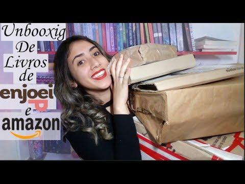 ?SUPER UNBOXING |  ENJOEI & AMAZON | ? Livros Baratos | Leticia Ferfer | Livro Livro Meu