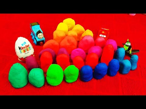 surprise - Hello! 30 surprise eggs! Play-doh surprise eggs toys! Playdough fun featuring play doh Kinder Surprise egg toys, Disney Pixar Cars, Spiderman, Batman, Ben 10...