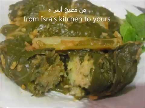 Chard domla iraqi cooking recipe دولمة السلق