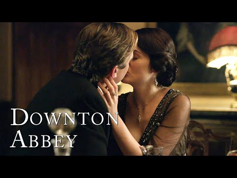Matthew and Mary's First Kiss | Downton Abbey