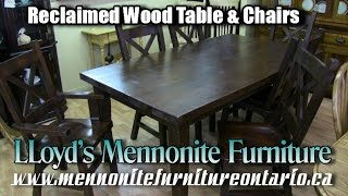 Mennonite Reclaimed Wood Kitchen Table & Chairs