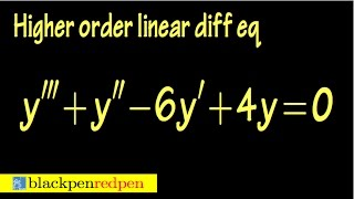 Higher order homogeneous linear differential equation, using auxiliary equation, sect 4.2#37