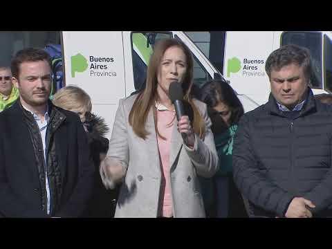 Vidal, López Medrano y Scarsi anuncian la llegada del SAME a San Martín, miralo en VIVO
