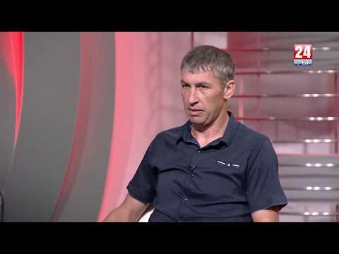 Наставник \Евпатории\ В. Мартынов и капитан И. Войтенко в программе \Мой спорт\