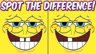 Photo Puzzles #2 Spongebob Squarepants   Spot the difference Brain Games for Kids   Child Friendly