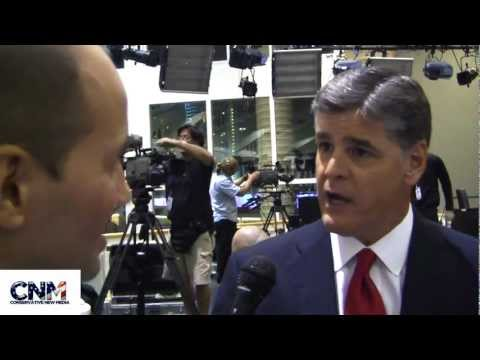 Conservative New Media - John D. Villarreal of Conservative New Media interview the great television and radio star Sean Hannity about the Fox News Google RPOF debate and the Preside...