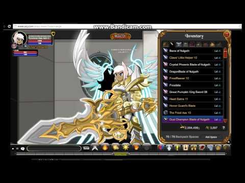 AQW - Dual Champion Blades Of Nulgath