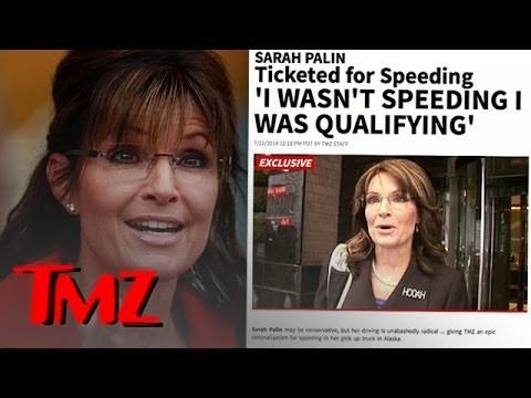 Palin - Sarah Palin was crackin' killer jokes after being stopped for speeding but why isn't everyone laughing?