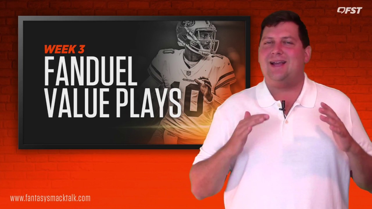 Daily Fantasy Football: Week 3 FanDuel Value Picks thumbnail