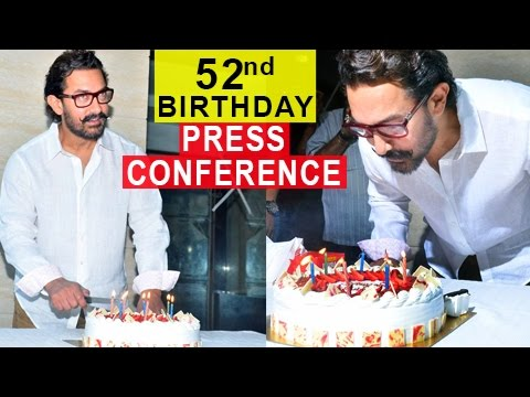 Aamir Khan 52nd Birthday Celebration Press Confere