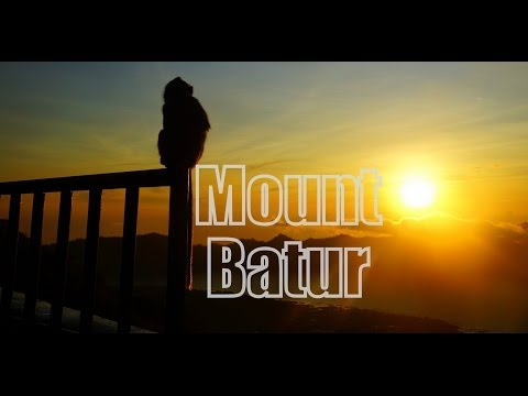 Hiking a volcano - Mount Batur - for sunrise in Bali, Indonesia