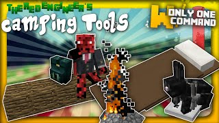 Minecraft - Camping tools with only one command | Backpacks, sleeping bags, bear traps & more!