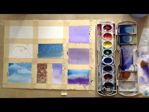 techniques - In this tutorial you will learn 13 watercolor techniques that can help you create texture and different affects in your watercolor paintings. If you are a be...
