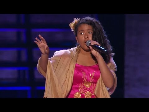 America's Got Talent 2015 S10e08 Judge Cuts - Alondra Santos Teen Mariachi Singer