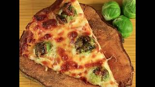 Preheat the oven to 350 degrees F/180 degrees C. Top the pizza crust with mozzarella, red and yellow bell pepper slices, add...