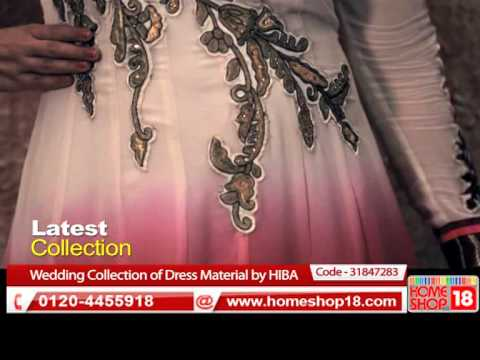 HomeShop18.com -  Wedding Collection of Dress Material by HIBA
