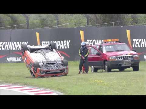 Eurocup Clio 2014 at Nurburgring, Josh Files' crash