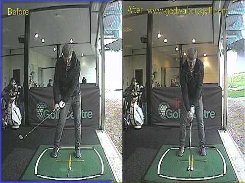 First Ever Golf Lesson – Awesome Improvement in Ball Striking