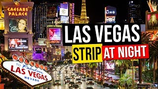 Las Vegas Strip at Night, Nevada, USA. Get a glimpse of the famous Las Vegas Strip at night with its amazing casinos and resort hotels : the Bellagio and its...