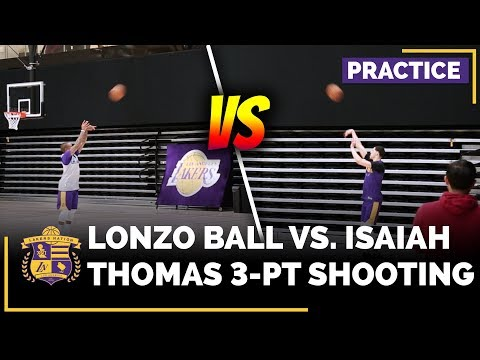 Video: Lonzo Ball vs. Isaiah Thomas In 3-Point Shoot Around After Practice