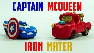 Video Captain McQueen VS Iron Mater   New Found Power Disney Cars Play-doh Lightning Toys MP3, 3GP, MP4, WEBM, AVI, FLV November 2018
