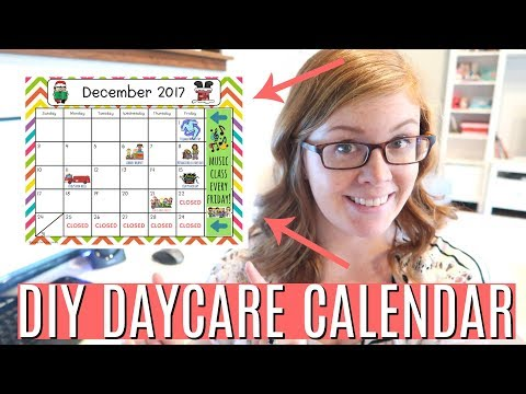 How to Make a FREE Daycare Calendar | DAYCARE DAY