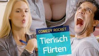 """In unserer ersten Dokumentation, zeigen wir Euch das Flirt-Verhalten der Gattung: Mensch. Oder auch: Ein """"How to Anbaggern""""mit Sarah Bock, Pia Stutzenstein und Daniele Rizzo--------------------------------------------------------------------------------------------YouTube: http://bit.ly/1MHbwekFacebook: https://www.facebook.com/COMEDYROCKETTwitter: https://twitter.com/COMEDY_ROCKETSnapchat: ComedyRocketInstagram: http://instagram.com/comedy_rocketOffizielle Website: http://www.comedyrocket.de--------------------------------------------------------------------------------------------"""