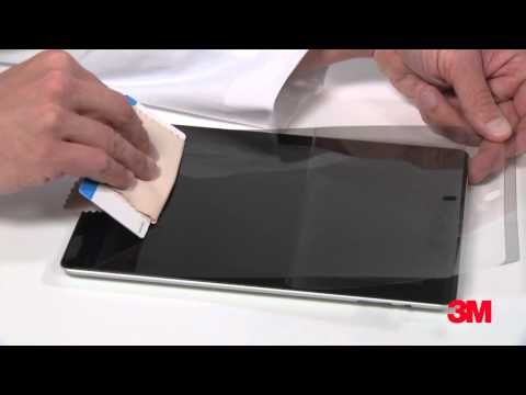 How To Apply A 3M™ Privacy Screen Protector On Your Tablet