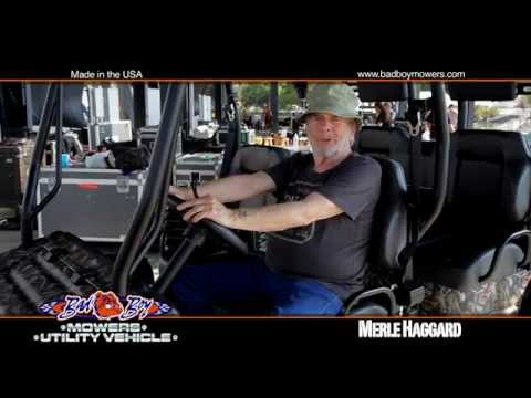 Merle Haggard Loves His Bad Boy Mower!