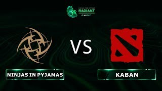 Ninjas in Pyjamas vs Kaban - RU @Map1 | Dota 2 Tug of War: Radiant | WePlay!