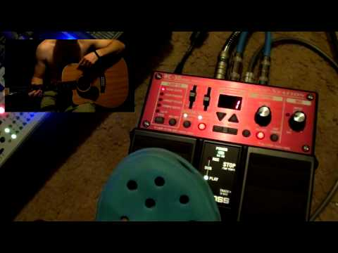 rc30 - This video will show you how the RC-30 works - it includes: Using a tap tempo drum beat, dual channel looping, cycling through the effects, removing a mistak...