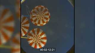 Orion EFT-1 Cabin Video During Re-entry and Splashdown