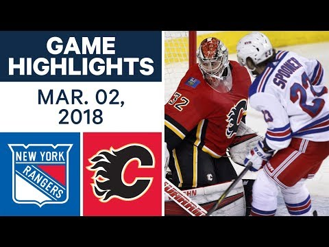 Video: NHL Game Highlights | Rangers vs. Flames - Mar. 02, 2018